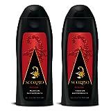 Scorpio - Gel Douche Homme - Rouge - Flacon 250 ml - Lot de 2