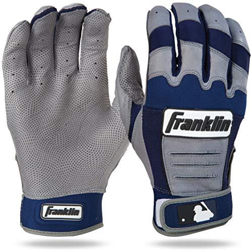 Franklin Sports CFX Pro Adult Series Batting Glove Gray/Navy, Adult X-Large