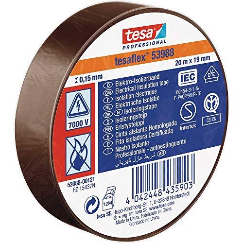 tesa 53988-00121-00 Isolierband tesa® 53988 Braun (L x B) 20 m x 19 mm 20 m
