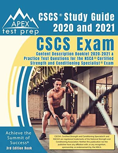 CSCS Study Guide 2020 and 2021: CSCS Exam Content Description Booklet 2020-2021 and Practice Test Qu
