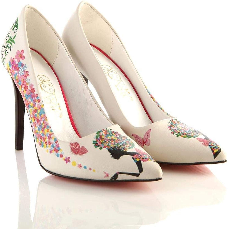 GOBY Women's shoes Flower Girl High Heel STL4003
