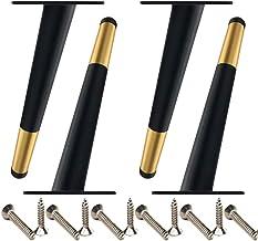 Meubelpoten, metalen bankpoten, de capaciteit van 4 poten bedraagt 1000 kg, zwart goud (verpakking van 4 stuks) (35 cm)