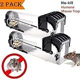 HomemoH Humanos inteligentes ratoneras, Pack 2 FlexibleRodent de plagas Steuerung ratón trampa captura viva