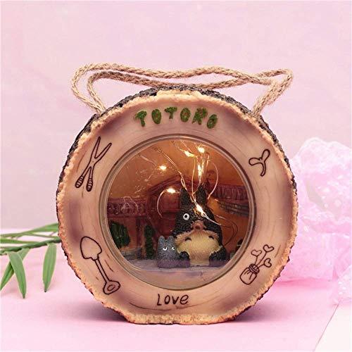 ZSNB Totoro Figura luz de la Noche, Animado japonés Mi Vecino Totoro Figuras Away Spirit con lámpara de Noche Estatua Modelos muñecas for la decoración del jardín Principal Kid