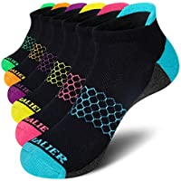 6-Pack Chalier Womens Ankle Low Cut Athletic Running Cushioned Socks