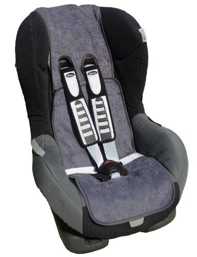 Ideenreich 2003-2 - Luftikul Frotteeschutzbezug für Autokindersitze, grau