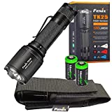 EdisonBright Fenix TK25 R&B (Red & Blue) White 1000 Lumen Multi-Color LED Tactical Hunting Flashlight with 2 X CR123A Batteries