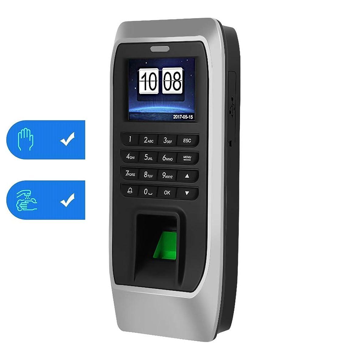 傘責め摂氏度指紋認証 VBESTLIFE タイムレコーダー 指紋+パスワード+ ID/ICカード 2つの動作モード 出退勤記録 レコーダーマシン オフィス、工場、ホテル、学校適用