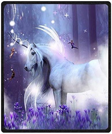 Decor Coner Fantasy Unicorn Blanket Plush Max 77% OFF online shopping Smooth S Luxury Velvet