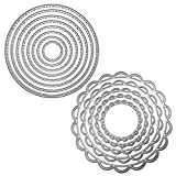 2 confezioni da taglio stencil metallo modello stampi, FineGood goffratura strumento per di scrapbooking DIY album di carta