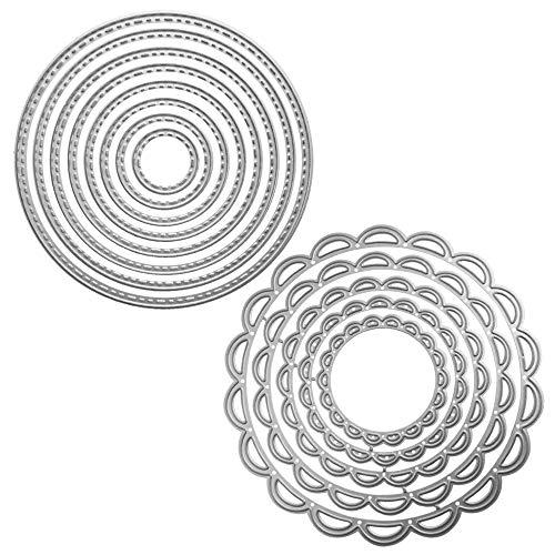 FineGood Stanzschablonen aus Metall, 2 Packungen