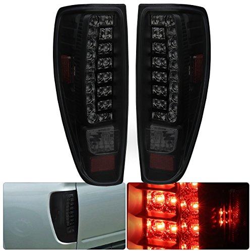 AJP Distributors Fits Colorado Canyon Led Tail Brake Stop Light Lamp Upgrade Pair 2004 2005 2006 2007 2008 2009 2010 2011 2012 04 05 06 07 08 09 10 11 12 (Black Housing Smoke Lens)