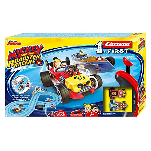 Carrera-1. First Mouse Circuito de Coches Mickey and The Roadster Racers de 2.4 m, Escala 1:50, Multicolor (20063029)