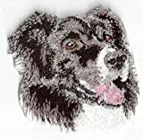 Embroidered Iron On Sew On Patch Border Collie Canine Dog Breed Applique, 2.5' x 2.5'
