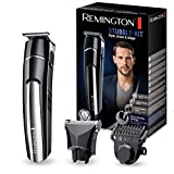 Remington MB4110 Regolabarba in Titanio, 2 Testine, Ricarica USB