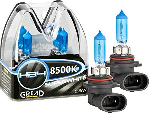Gread - 2x HB4 Halogen Leuchte in Xenonoptik - white - 8500k 55W - eintragungsfrei