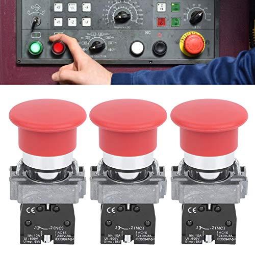 Practicabilidad Interruptor de botón confiable Equipo de control de distribución de energía Resistencia a altas temperaturas de 240 V para uso industrial(XB2-01M red, pink)