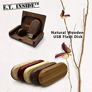 5 Pack Wooden USB Flash Drive 16GB Bamboo USB Stick with Tailored Gift Case