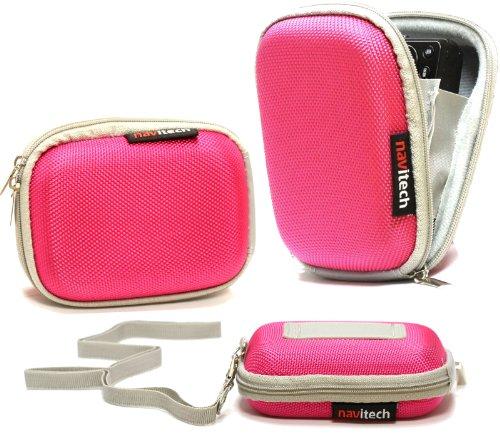 Navitech Pinke Wasser wiederständige Harte Digital Kamera Tasche für das Canon Powershot S110
