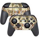 MightySkins Skin Compatible with Nintendo Switch Pro Controller - School of Athens | Protective, Durable, and Unique Vinyl wrap Cover | Easy to Apply, Remove, and Change Styles | Made in The USA