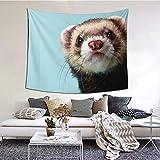 Bonito tapiz de animales para colgar en la pared y decoración del hogar para dormitorio, sala de estar, decoración de dormitorio (60 x 51 pulgadas)