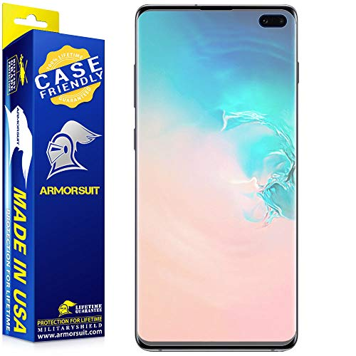 ArmorSuit MilitaryShield Anti-Glare Screen Protector for Samsung Galaxy S10 Plus [Case Friendly] Anti-Bubble Matte Film