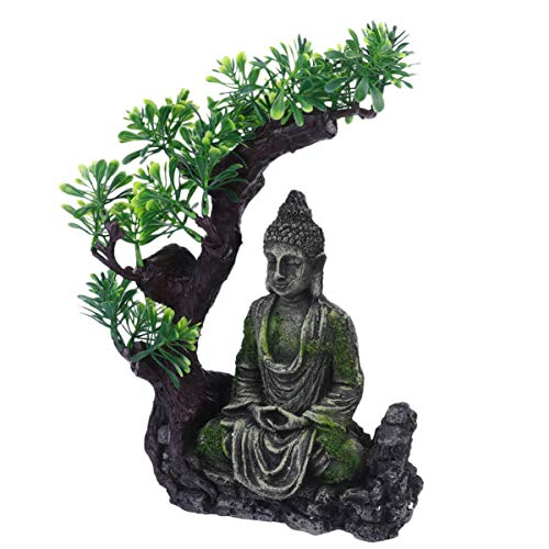 POPETPOP Aquarium Resin Decorations Fish Tank Ornament Buddha Statue Decor Underwater Landscape Hideaway Fish Tank Scenery
