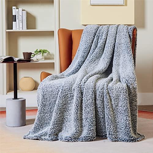 Bedsure Manta Sofa Polar Grande - Manta para Cama 90 Borreguito de Invierno, Manta Cubre Cama 150x200 de Sherpa Suave y Calentita, Azul Marino