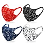 Yolo Studio Super Light Thin Breathable Washable Reusable Face Covering Protective Gear Selection (Set of 4, Mix 4 Colors)