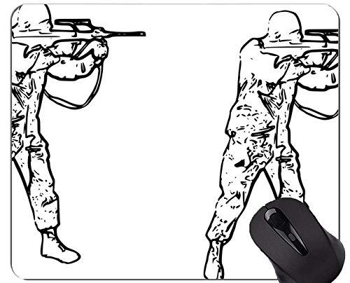 Yanteng Cojín de ratón de Encargo único Mousepad, cojín de ratón de Goma de los Soldados de la Fiesta del té de los Armas