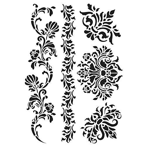Ideen mit Herz Laser-Kunststoff-Schablone | DIN A4 | Perfekt geeignet für Textilgestaltung, Wandgestaltung, Fenster, Papier, Scrapbooking, Kinder, Basteln, DIY (Ornamente)