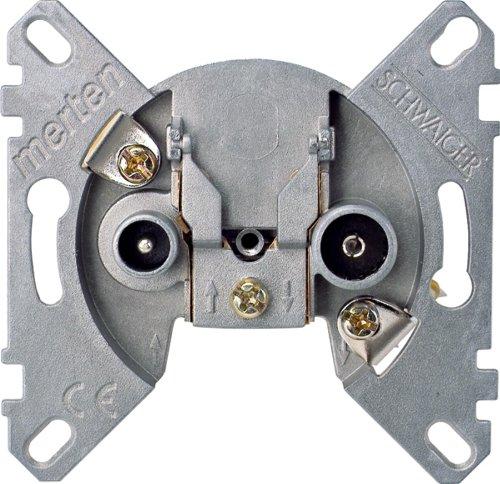 Merten BK-/Sat 466099 2fach Antennenstichdose