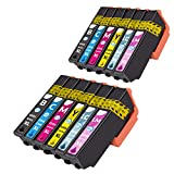 NTT 12 XL Cartucce di ricambio per Epson 24XL compatibili con Epson 24 XL per Expression Photo XP-55 XP-750 XP-760 XP-850 XP-860 XP-950 XP-960