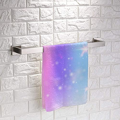 Fondo holográfico con cuadrados de malla de arco iris, toalla de mano suave, acogedora, mini toallas de tela clásica, para niños y niñas, 30 x 30 cm