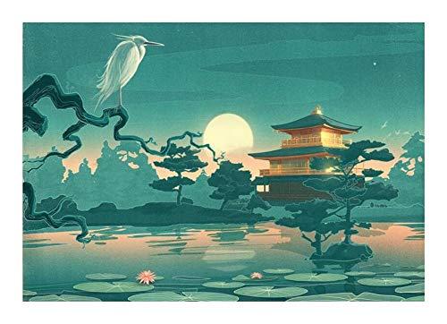 Puzzle Japonés Famoso Cuadro Rompecabezas - Antiguo Encanto Noche - 520/1000/1500 Piezas for Adultos Adolescentes Relax Pinturas de Madera de Juguete de Regalo Decorativos (Size : 520pcs )