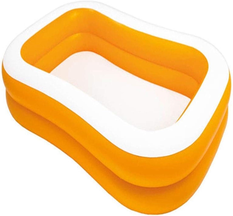 Dicker Aufblasbarer Rechteckiger Pool Aus PVC, Schnell Eingestellt, Familienpool, Aufblasbarer Pool, Kinderballpool Für Kinder 229X147X46CM, 519L