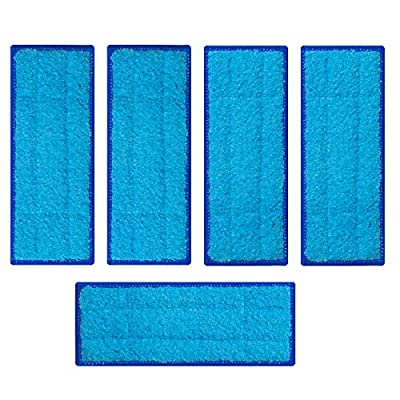 BESKIT 5 Packs Washable Wet Mopping Pads Compatible with iRobot Braava Jet 240 241