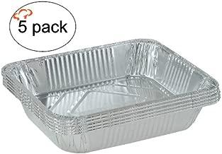 Tiger Chef Top Quality 5-Pack 9 x 13 inch Deep Aluminum Foil Pans Disposable