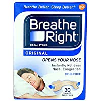 BREATHE RIGHT NASAL STRIPS,TAN,SM/MED, 30 CT by Breathe Right
