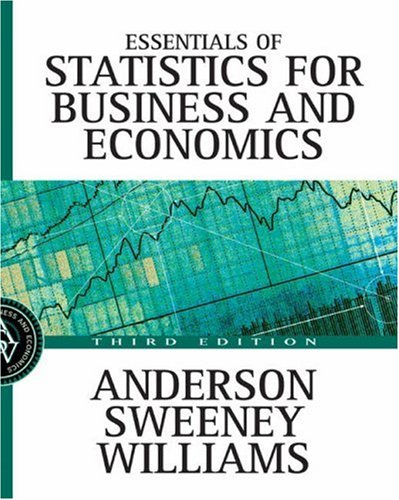 Essentials of Statistics for Business and Economics with Data Files CD-ROM