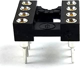 Juried Engineering IC DIP-8 Sockets Machined Round Contact Pins Holes Pitch 2.54mm DIP8 DIP 8 Breadboard-Friendly (Pack of 20)