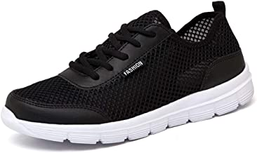 MYHYZZ-Athletic Shoes Fashion Sneaker for Men Athletic Sport Shoes Lace up Breathable Lightweight Mesh Fabric Walking Running Travelling Men's casual shoes