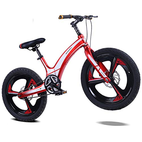 Kids Mountain Bike, 20-inch Boys and Girls Magnesium Alloy Frame Bicycle, Adjustable Seats,for 10-14 Years Old Children 135-160cm Tall