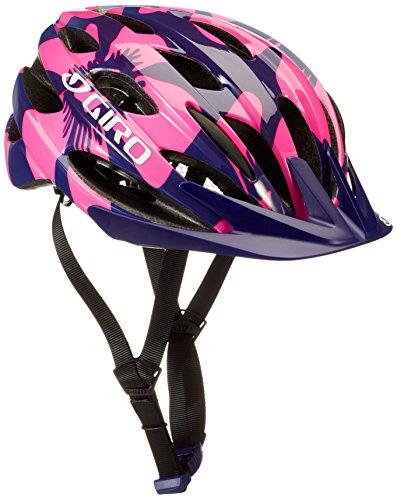 Giro Kinder Raze Fahrradhelm, Berry/Blue Flowers, One Size