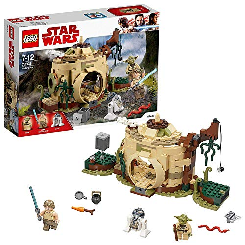 LEGO 75208 Star Wars Yoda's Hut Jedi Training with Yoda, Luke Skywalker, R2-D2, Rebels Set, The Empire Strikes Back