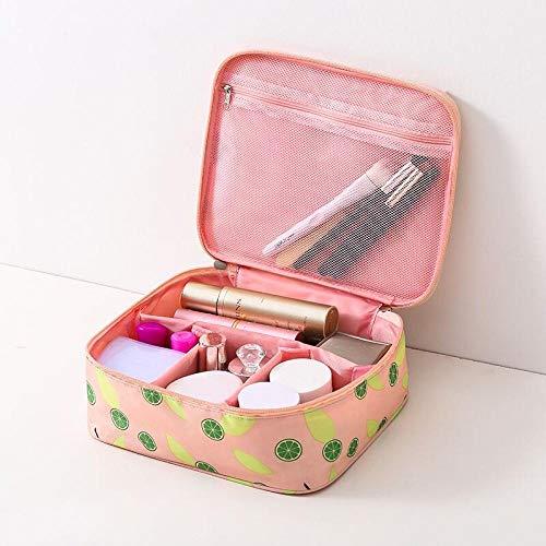 Promworld Sac cosmétique Multifonctionnel Sac cosmétique Portable pour Femme Trousse de Toilette Portable de Grande capacité - Type B-Rose Vert Orange