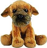 Suki Gifts 12128 Naturgetreuer Border Terrier Hund Kuscheltier, mehrfarbig