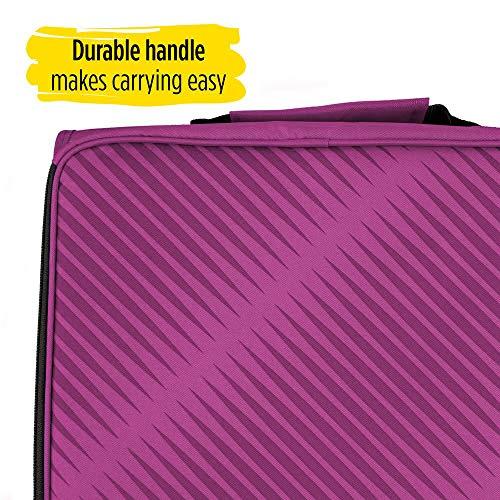 Five Star Zipper Binder, 2 Inch 3 Ring Binder, 6-Pocket Expanding File, Durable, Berry Pink/Purple (72540) Photo #4