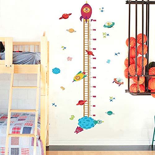 Lorcoo Gráfico de crecimiento, 60 * 140cm Adhesivo decorativo para pared medidor de altura para niños, Vivero Habitación de los Niños Removible Etiquetas de la Pared Murales
