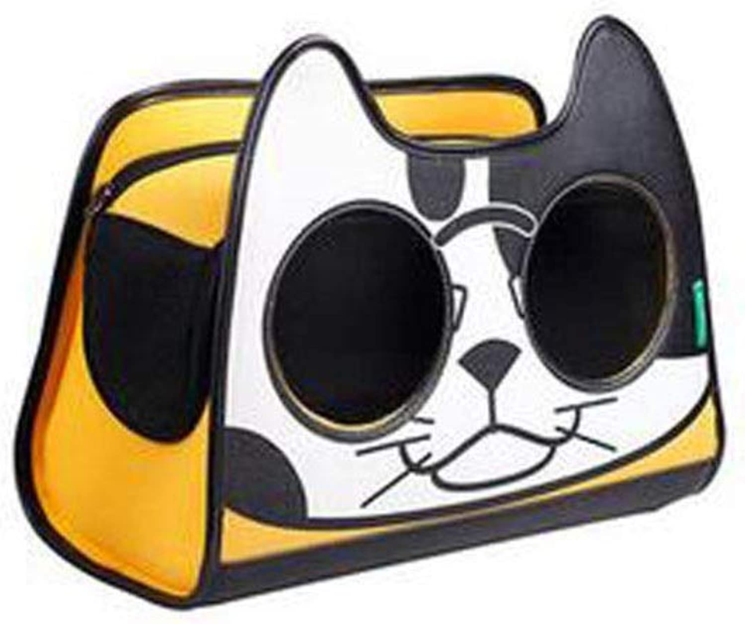 Portable Canvas pet Bag, Out Carrying case, Suitable for Travel, Camping, Shopping, Suitable for Cats, Pomeranian Small and Medium Pets (color   Yellow)